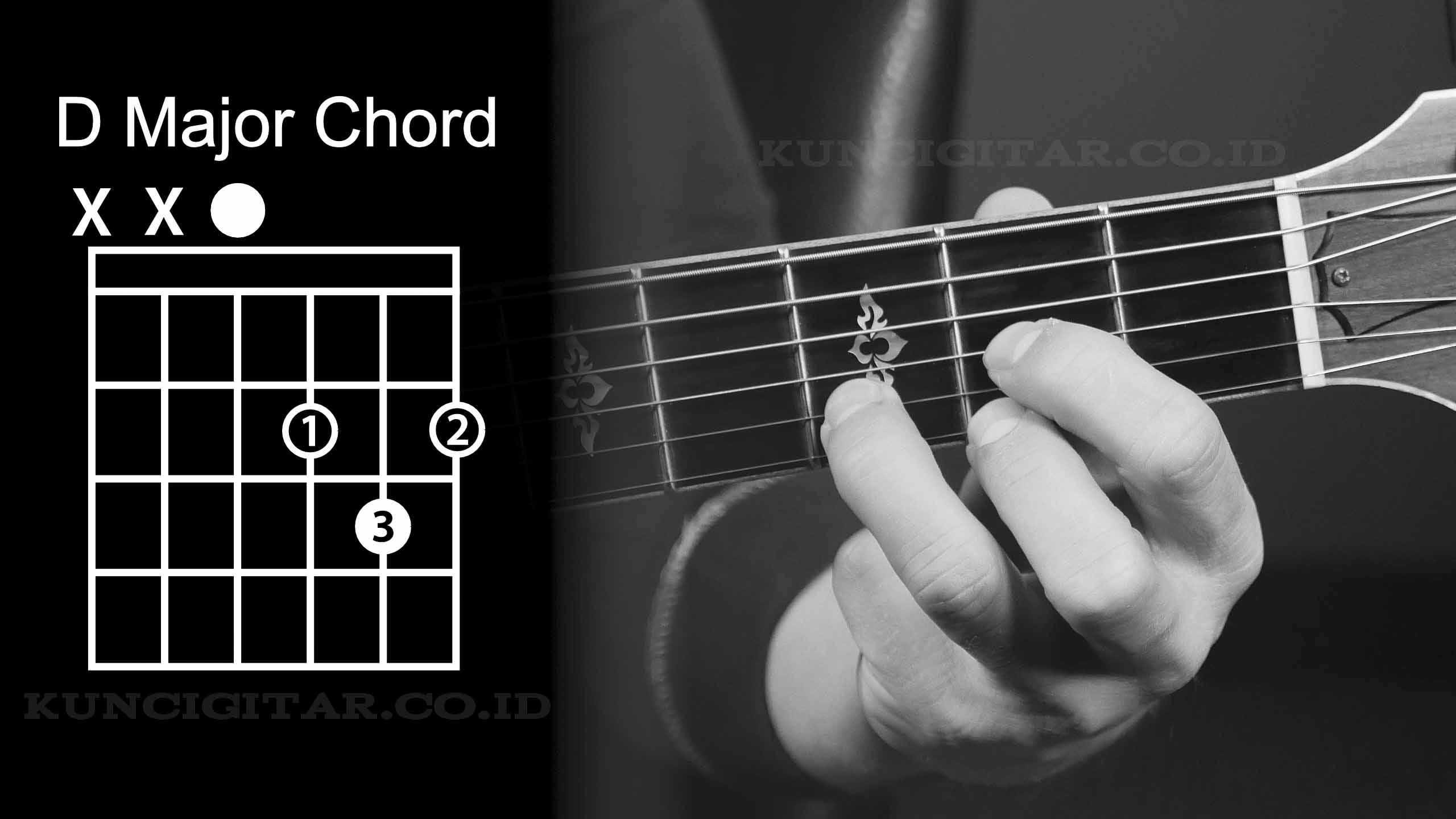 chord gitar dasar D