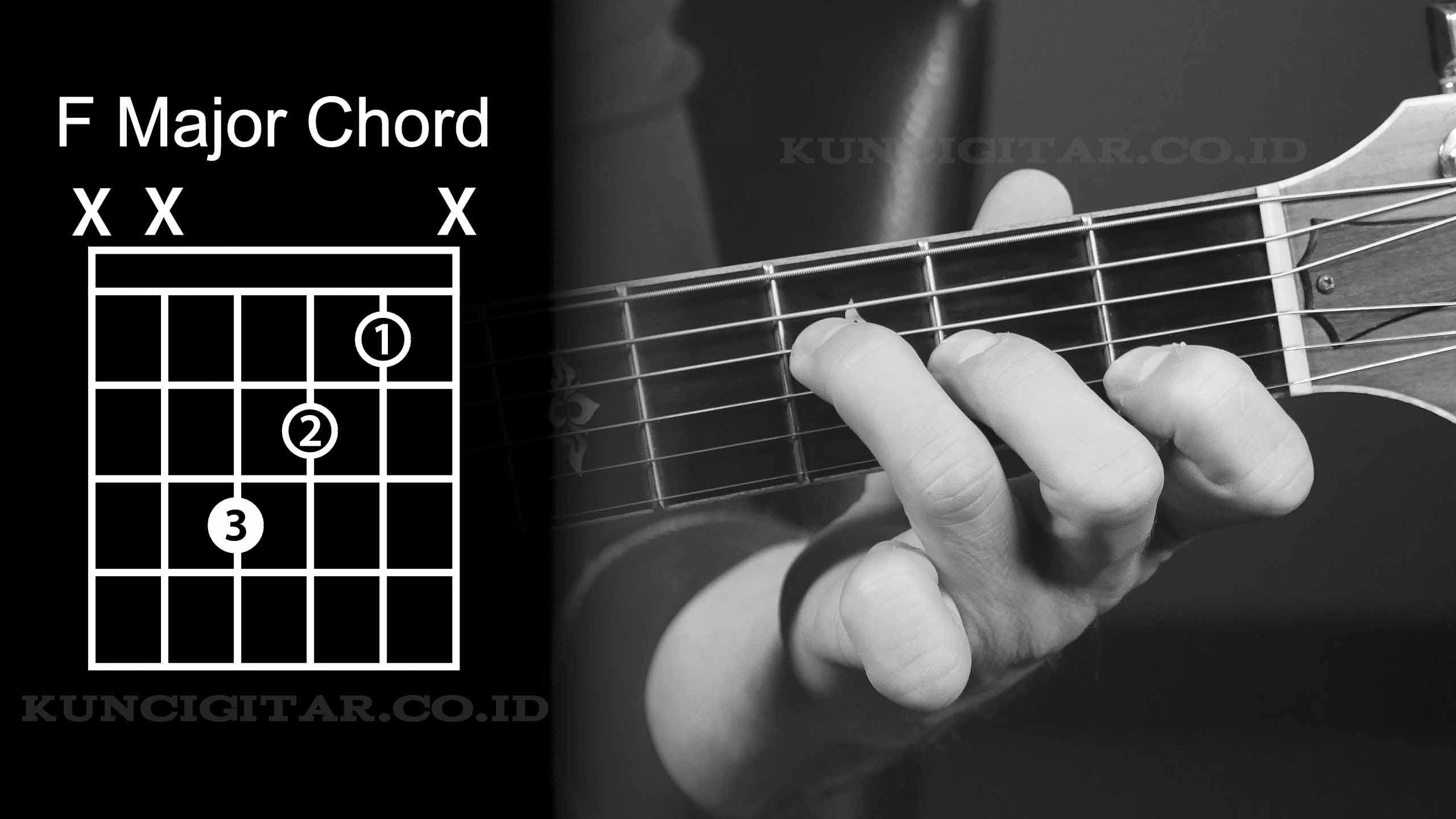 kunci gitar F